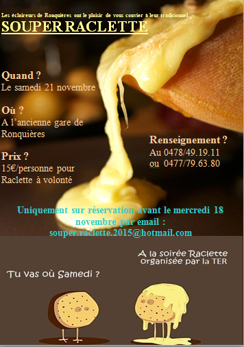 photo affiche souper raclette