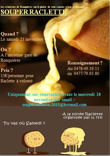 photo affiche souper raclette